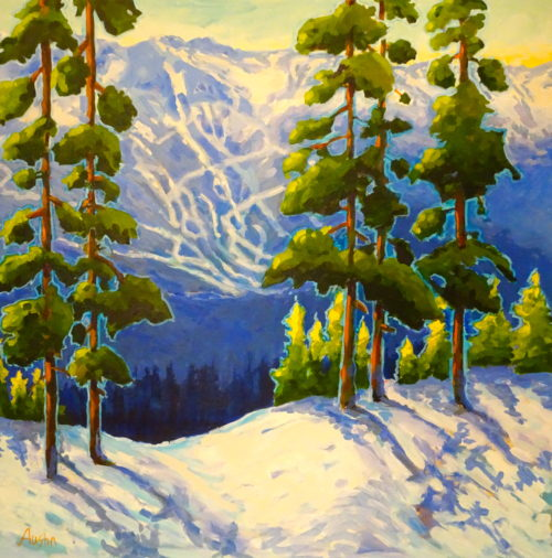 Whistler View 30 x 30 acrylic on canvas