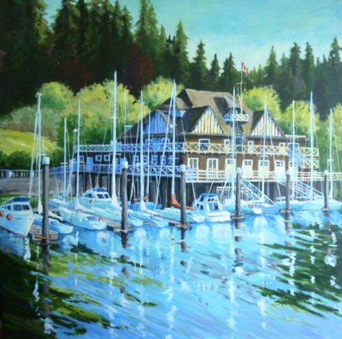 The Rowing Club 48 x 48 acrylic on canvas - sold