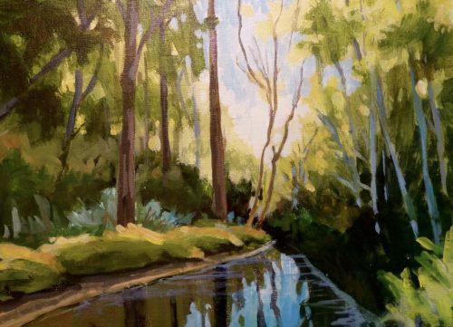 McKay Creek 9 x 12 acrylic on canvas board
