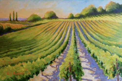 Serendipity Vineyards 24 x 36 acrylic on canvas - sold
