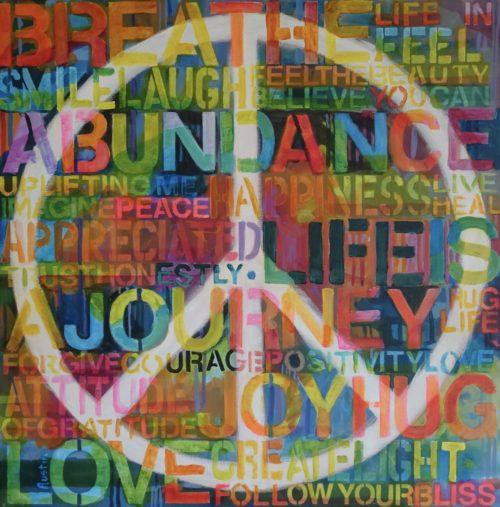 Peace Imagined 24 x 24 acrylic on canvas