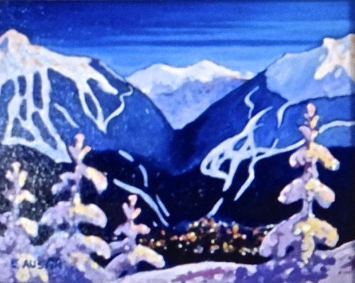 Whistler 8 x 10 acrylic on canvas - sold