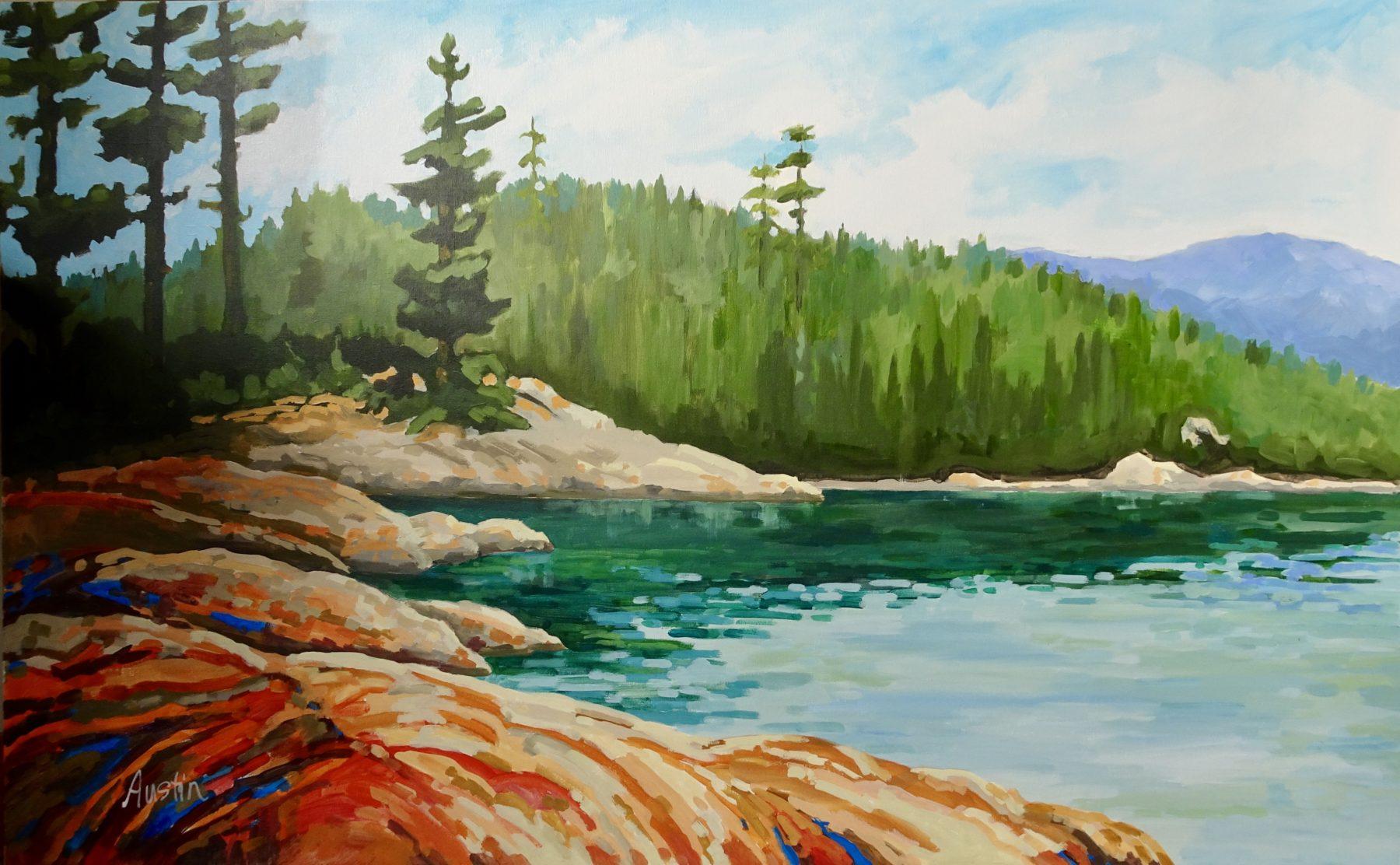 Caulfeild Cove 30 x 48 acrylic on canvas - sold
