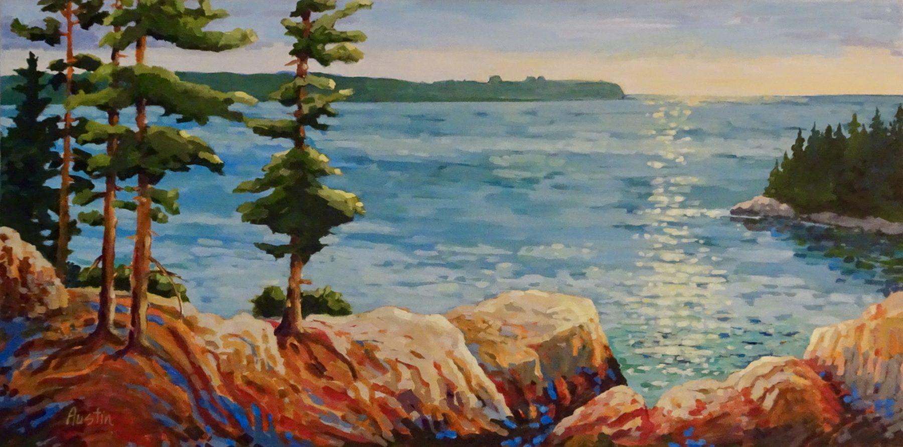 Caulfeild Rocks 30 x 48 acrylic on canvas - sold