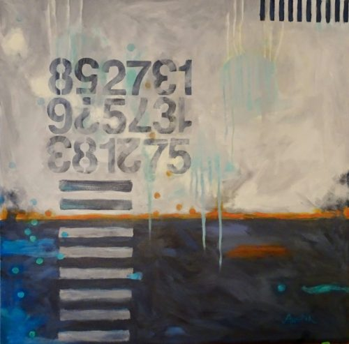 Brain Function #85 30 x 30 acrylic on canvas - sold