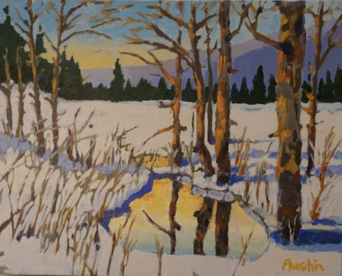 Winter Reflection 11 x 14 acrylic on canvas