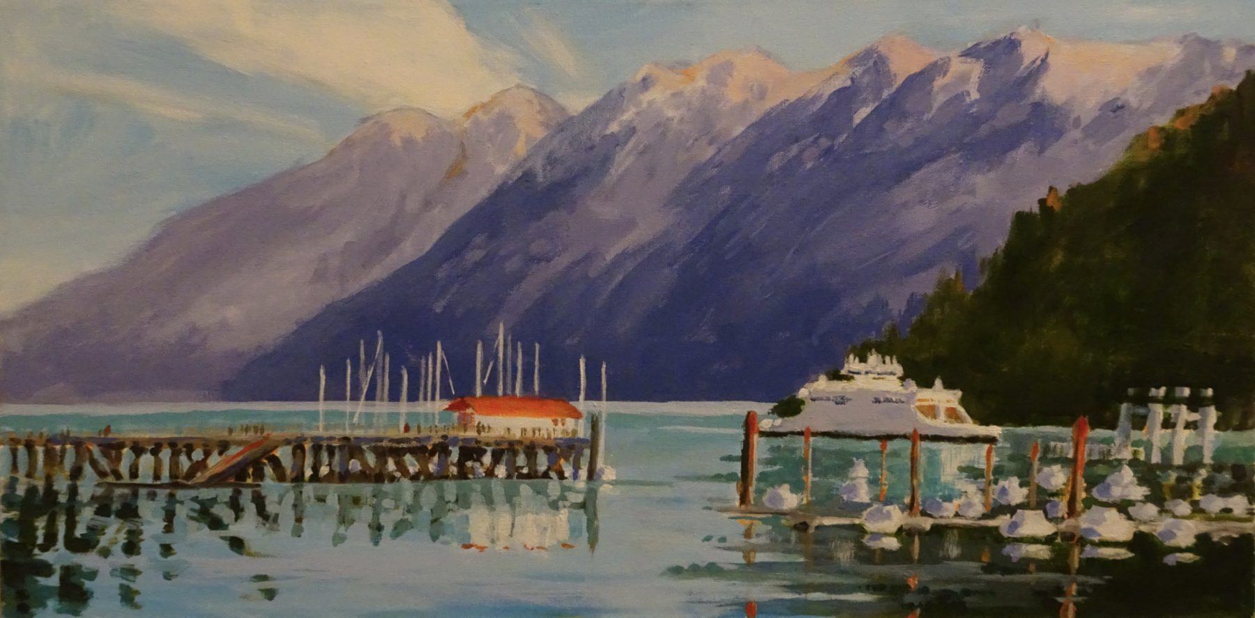 Horseshoe Bay 12 x 24 acrylic on canvas - sold