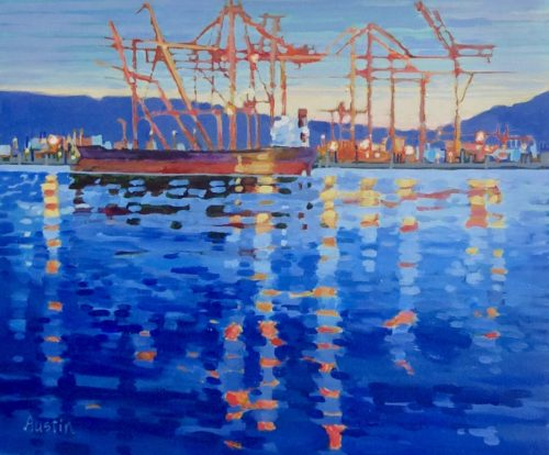 Light Pattern at the Docks 2 20 x 24 acrylic on canvas - sold