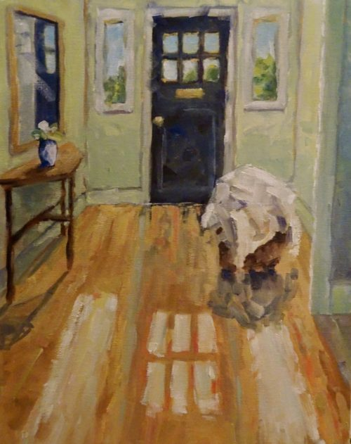 Laundry Day 11 x 14 oil on canvas