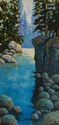 Capilano River Canyon 10 x 20 acrylic on canvas - sold
