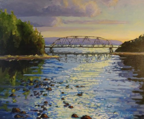 Capilano River Bridge 20 x 24 acrylic on canvas - sold