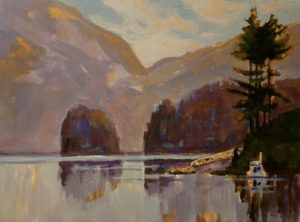 Deep Cove 16 x 20 acrylic on canvas - sold