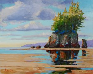 Sea Stack, West Coast 16 x 20 acrylic on canvas - sold
