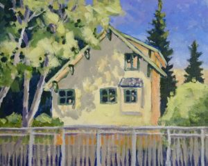 Yellow House 8 x 10 acrylic on canvas
