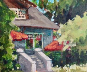 The Pavilion, Stanley Park 8 x 10 acrylic on canvas