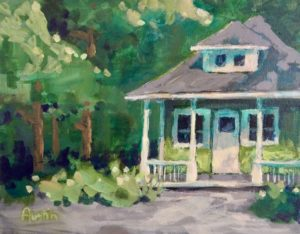 BC Mills House, Lynn Valley 8 x 10 acrylic on canvas - sold