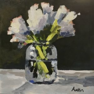 Mason Jar 10 x 10 acrylic on canvas - sold