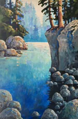 Capilano River Canyon 24 x 36 acrylic on canvas - sold