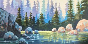Capilano River Tapestry 12 x 24 - sold