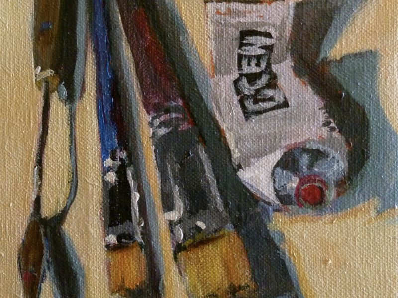 """<span class=""""entry-title-primary"""">Tools of the Trade</span> <span class=""""entry-subtitle"""">6 x 6, acrylic on linen</span>"""