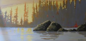 Safe Anchorage 18 x 36 acrylic on canvas