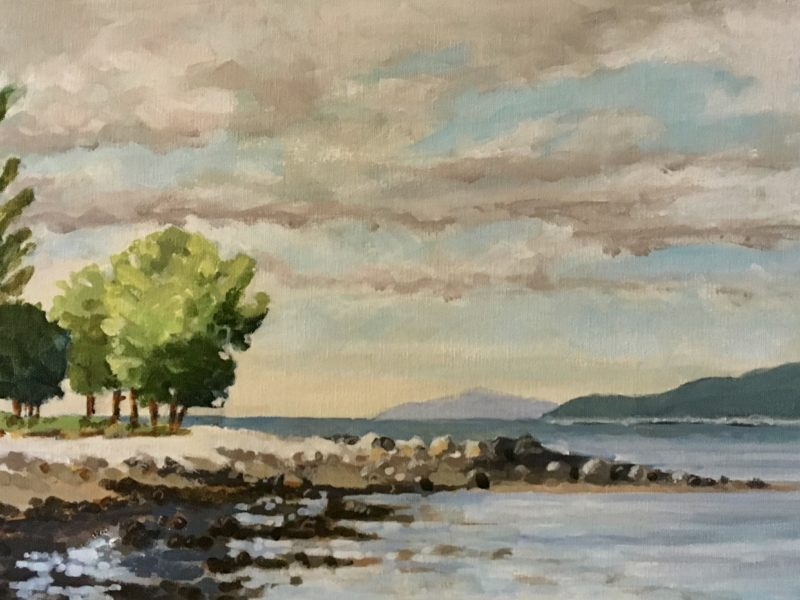 """<span class=""""entry-title-primary"""">Spanish Banks, West</span> <span class=""""entry-subtitle"""">12 x 24, acrylic on canvas</span>"""
