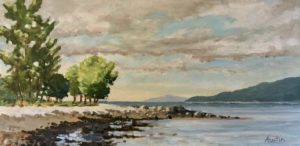Spanish Banks, West 12 x 24, acrylic on canvas