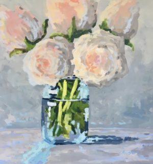 The Mason Jar 24 x 24, acrylic on canvas