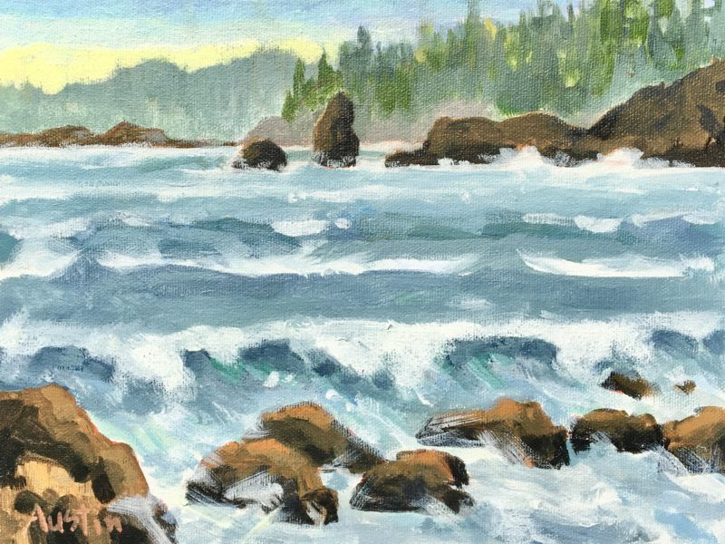 """<span class=""""entry-title-primary"""">West Coast Sea</span> <span class=""""entry-subtitle"""">11 x 14 acrylic on canvas</span>"""