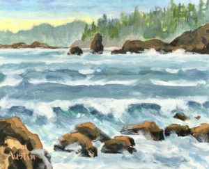 West Coast Sea 11 x 14 acrylic on canvas