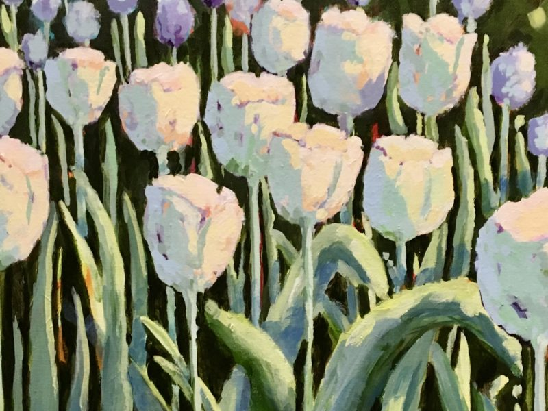 """<span class=""""entry-title-primary"""">White Tulips</span> <span class=""""entry-subtitle"""">18 x 24, acrylic on canvas - sold</span>"""