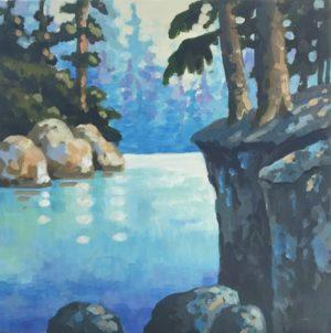 The Light Ahead 8 X 8, acrylic on canvas - sold