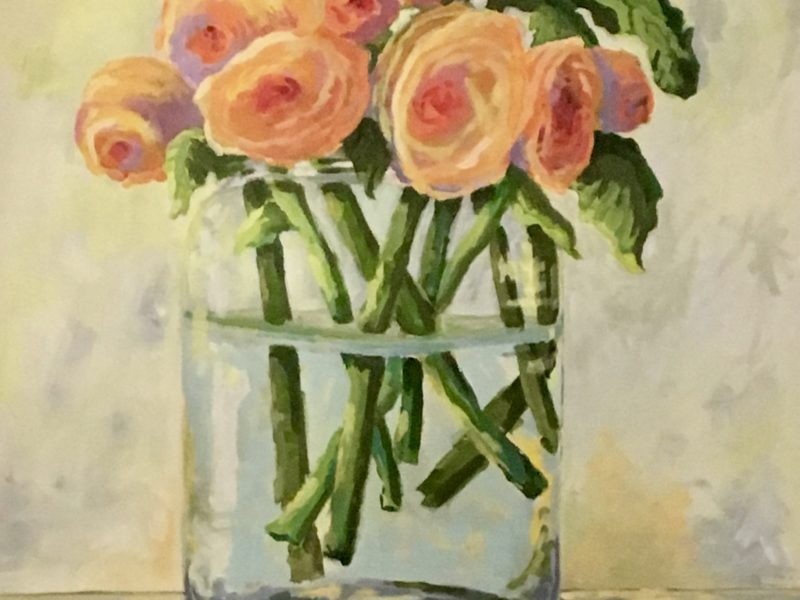 """<span class=""""entry-title-primary"""">Ranunculus</span> <span class=""""entry-subtitle"""">36 x 36, acrylic on canvas</span>"""