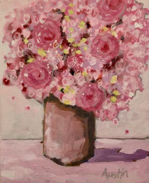 Pink Bouquet 8 x 10, acrylic on canvas