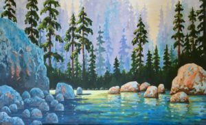 Lower Lynn Creek 30 x 48, acrylic on canvas - sold