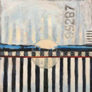 Rising 30 x 30, acrylic on canvas
