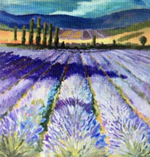 Lavender Fields Forever 36 x 36, acrylic on canvas - sold