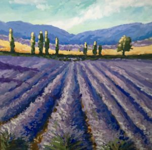 French Lavender 30 x 30, acrylic on canvas
