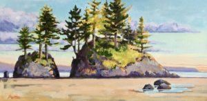 West Coast Pattern 12 x 24, acrylic on canvas - sold