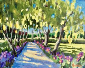 Laburnum Walk 8 x 10, acrylic on  canvas