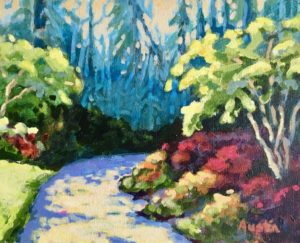 VanDusen Path 8 x 10, acrylic on canvas