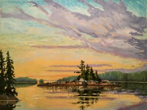 Broken Group Islands 36 x 48 acrylic on canvas - sold