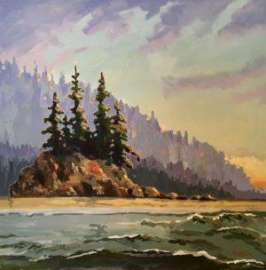 Island Habitat – SOLD 24 x 24, acrylic on canvas