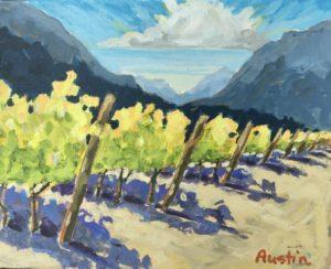 Fort Berens Vineyard 8 x 10 acrylic on canvas