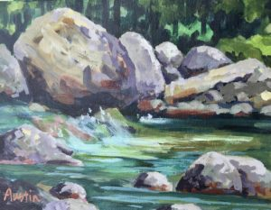 Lynn Creek 8 x 10 acrylic on canvas - sold