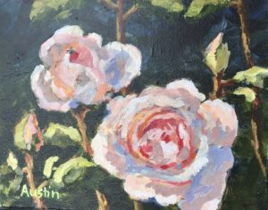 Roses in Pink 8 x 10 acrylic on canvas