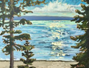 Pacific Shores 16 x 20 acrylic on canvas - sold