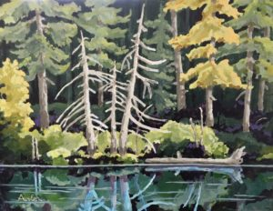 Forest Reflections 2 18 x 24 acrylic on canvas