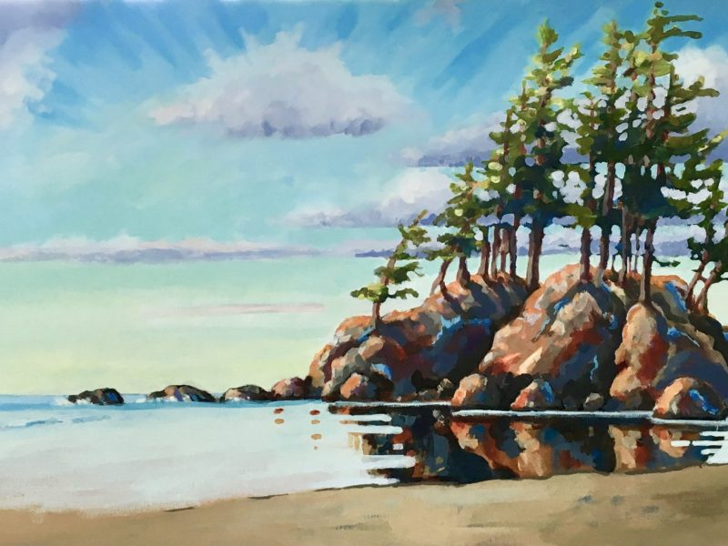 """<span class=""""entry-title-primary"""">West Coast Reflections</span> <span class=""""entry-subtitle"""">18 x 24 acrylic on canvas - sold</span>"""