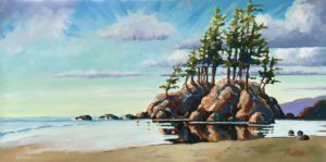 West Coast Reflections 18 x 24 acrylic on canvas - sold